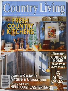 Country Living Magazine April 1997 Fresh Country Kitchens 6