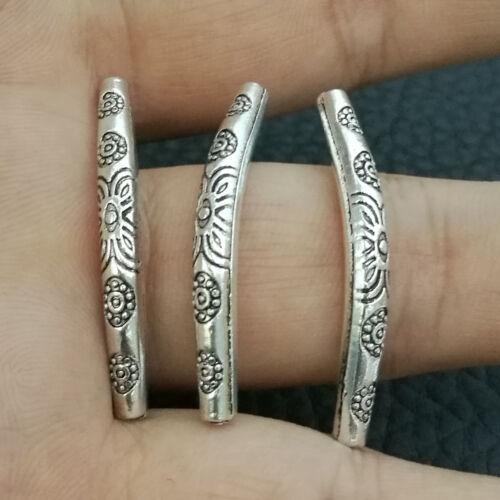 10pcs Tibetan Silver Tube Bending Circular Curved beads gasket spacer bead A2999