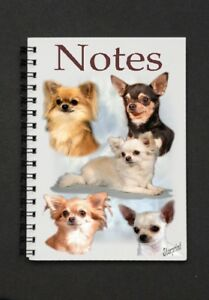 Australian Shepherd Dog Notebook//Notepad with small image on every page