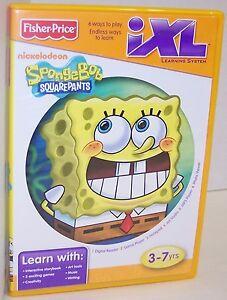 NEW-Fisher-Price-IXL-Learning-System-034-Sponge-Bob-Square-Pants-034-CD-ROM-2841