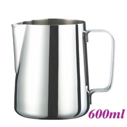 Tiamo STAINLESS STEEL Mirror Finish Milk Pitcher for COFFEE MACHINE 0.3L 0.6L 1L
