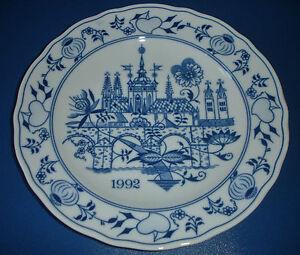 Patron-de-Cebolla-Plato-Navidad-Oakwood-DUBY-1992-CESKY-cibulak-coleccion