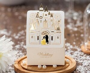 Fairytale Castle Wedding Favor Boxes Belle Beauty Beast Pkg