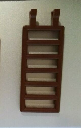 LEGO Ladder Fence Bar 7X3 with Clips 6020 grey//brown//yellow