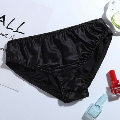 New Women/'s 100/% Real Silk Soft Briefs Bikinis Underwear Panties Size L XL XXL