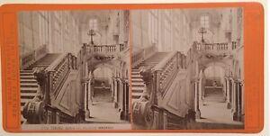 Torino-Palazzo-Madama-Italia-Foto-Brogi-Stereo-Vintage-Albumina