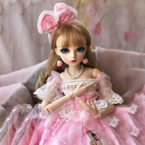 BJD Doll 1//3 Ball Jointed Female Body Cute Girl With Free Face Make Up Clothes