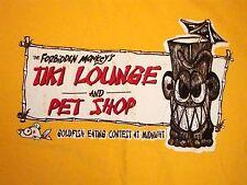 The Forbidden Monkey's Tiki Lounge And Pet Shop Souvenir Island T Shirt M