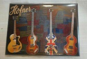 Hofner Guitare Et Basses Couleur Réfrigérateur Aimant-afficher Le Titre D'origine PréVenir Le Grisonnement Des Cheveux Et Aider à Conserver Le Teint