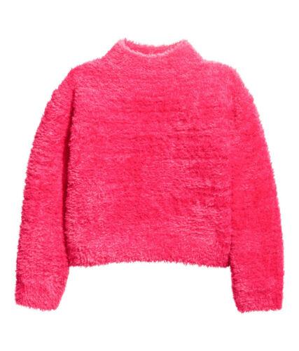 Pullover H/&M pink flauschig Mädchen NEU Strickpullover