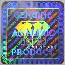 "392 ""GENUINE"" Diamond +Serial No's Hologram Security stickers Labels S19-1SSN"
