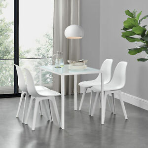 Dettagli su En.casa Tavolo da Pranzo + 4 Sedie Tavolo da Cucina Tavolo Sala  da Pranzo Gruppo