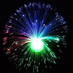 color changing led fiber optic night light lamp stand home