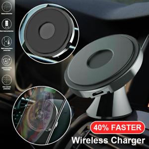Inalámbrico Cargador de coche rápido Qi Soporte Para iPhone 12...