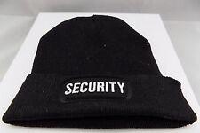 SECURITY Cop Guard Patch BLACK Beanie Knit Cap Hat Motorcycle BIKER MC BEA-0011