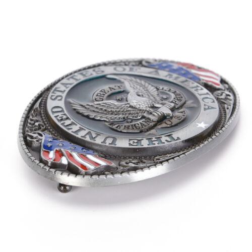 Western style U.S.A American flag eagle metal alloy fashion Men Belt Buckle RU