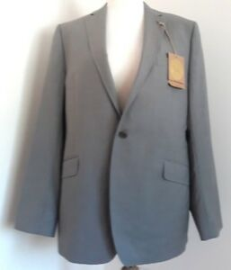 "Men's Ted Baker "" Greenz"" Grey 100% Wool Tailored Suit Jacket Bnwt Uk 44/6 Us 44"