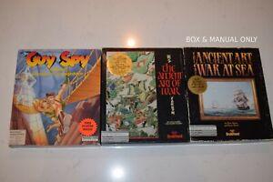 Vintage-Mac-Macintosh-Games-Guy-Spy-Broderbund-Art-of-War-etc-Rare-Lot