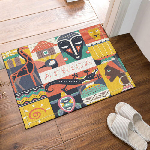 """African Animal And Women Plush Bathroom Rug Non-Slip Floor Door Mat 16x24/"""""""