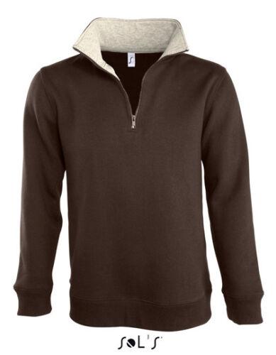 L312 Sol/'s Herren Sweatshirt Half-Zip Troyer Sweater Reißverschluss SCOTT