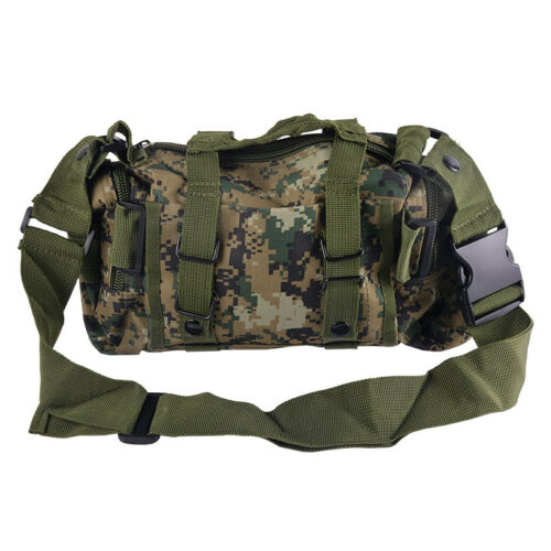 UK New Hiking Military Tactical MOLLE Shoulder Bag Waist Pouch Pack Camping Bags