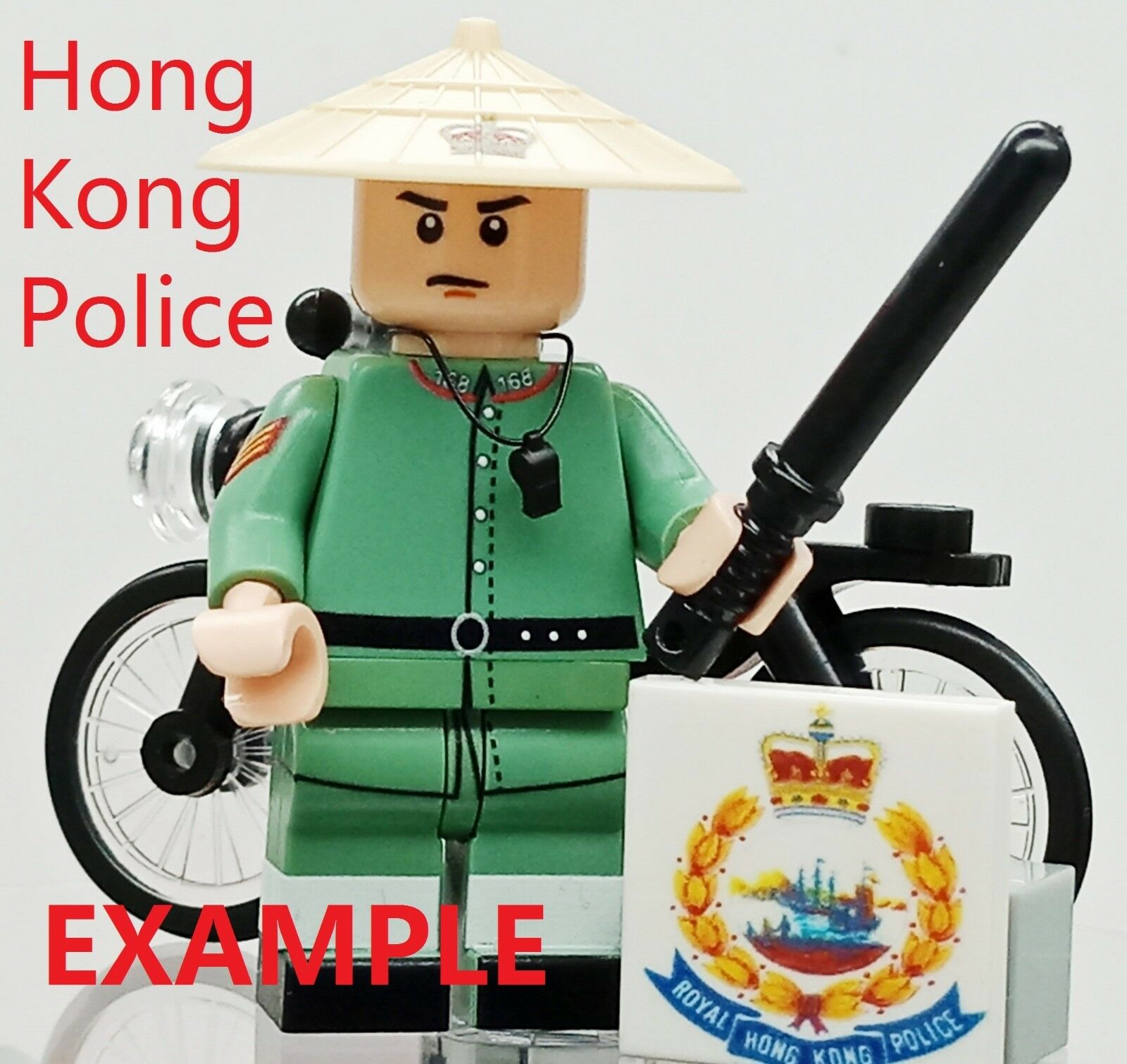 A Hong Kong Colonial Police minifigure . Printed on real lego minifig