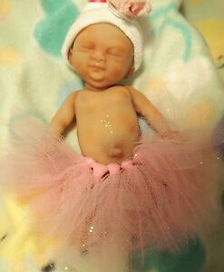 Painted Micro Preemie Full Body Silicone Baby Girl Doll Tobi Ebay