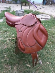 New-Jump-Close-Contact-100-Genuine-Leather-Saddle-Available-size-16-034-17-034-18-034