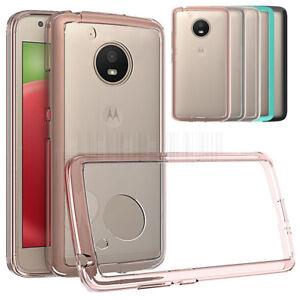 Slim-hybride-clair-TPU-Case-antichoc-Housse-de-Telephone-Peau-Pour-Motorola-Moto-E4-2017