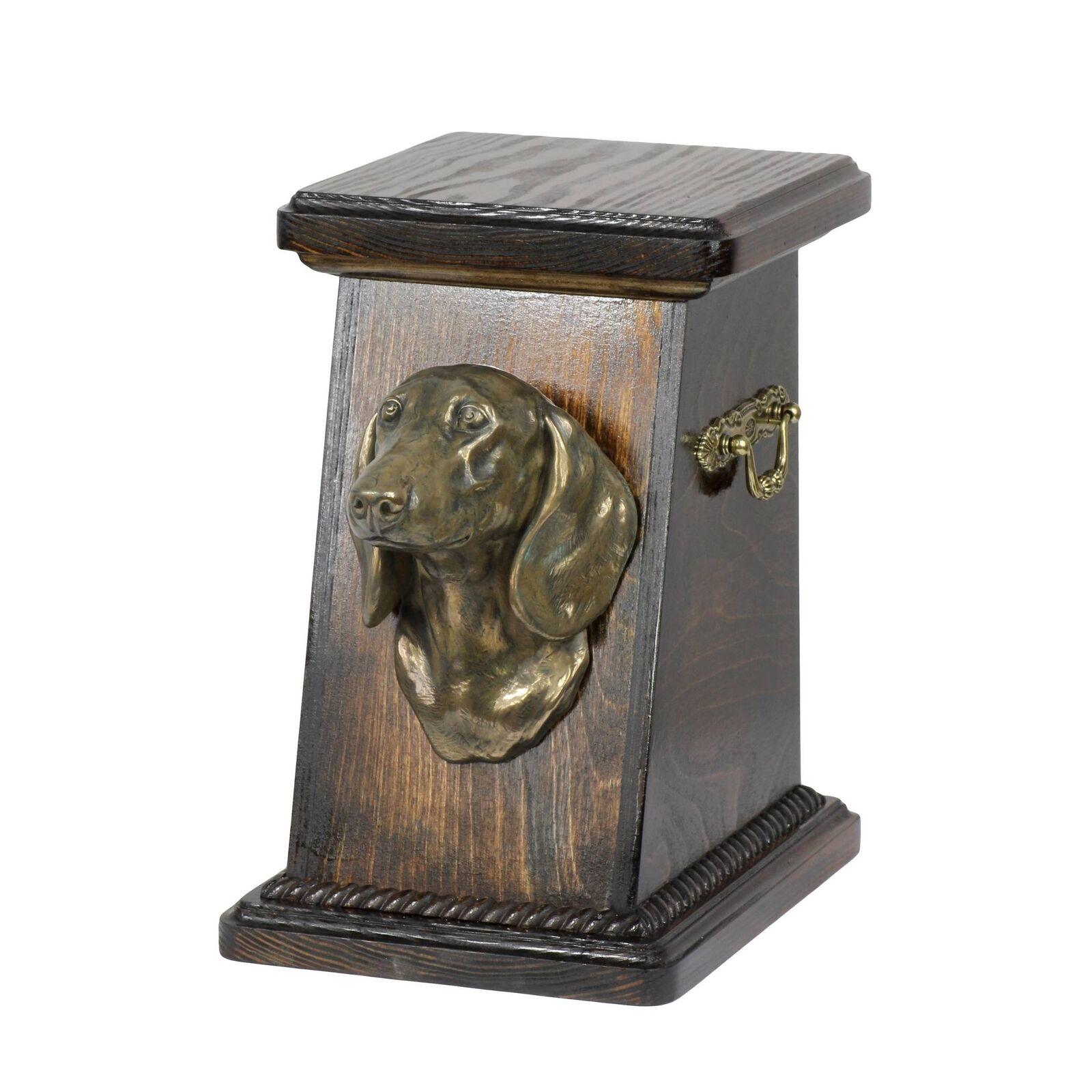 Bassotto tipo 3 - urna di legno con l'immagine di un cane Art Dog IT Tipo 3