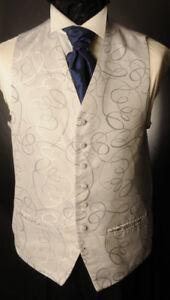 partito CW8 matrimonio Panciotto Argento Mens formale Swirl ragazzi abito Messico xHngv7x8q
