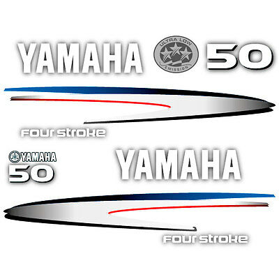 decal aufkleber addesivo sticker set Yamaha 50 four stroke outboard 2013