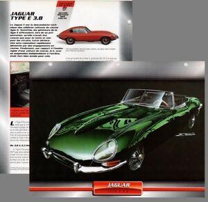 jaguar type e 3.8 voiture d'exception - fiche - caractéristique