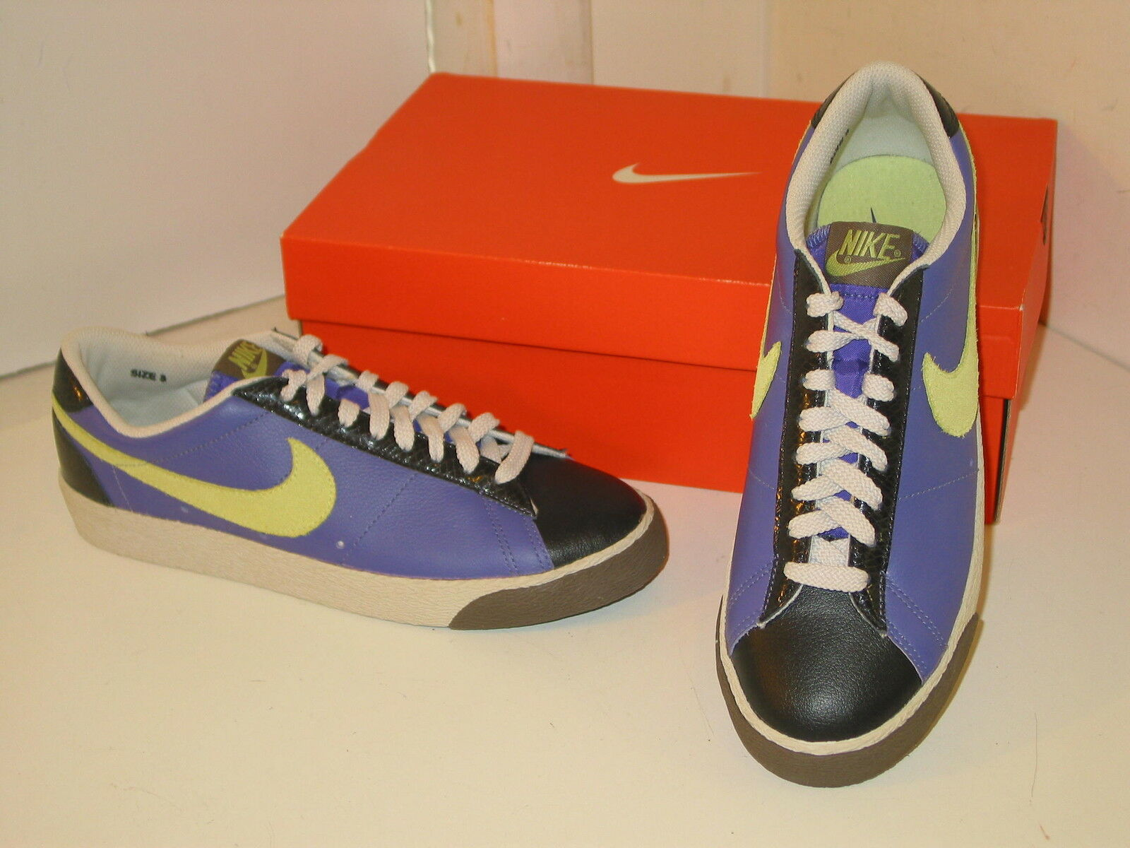 Nike Blazer Low Classic Purple, Yellow & Black Athletic Sneakers Shoes Mens 8 Seasonal price cuts, discount benefits
