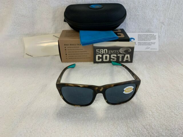 feba0d49c6d0 NEW Costa Del Mar Cheeca Polarized Sunglasses Tortoise Gray 580P CHA 249 OGP
