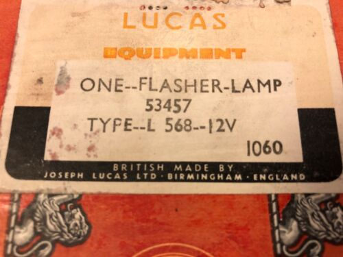 FLASHER LAMP LUCAS CAV L568  TO BE USED WITH 12 OR 24 VOLT BULBS  BLINKER