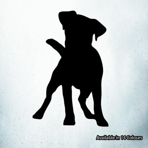 Jack Russell Chien Silhouette Vinyle Autocollant Pour Voiture Fenêtre Pare-chocs Wall Art Decal