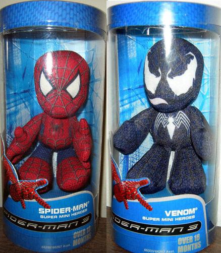 Spider-Man 3  Hasbro Super Mini Heroes (Spidey & & & Venom) 24409b