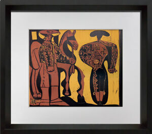 "Pablo Picasso LINOGRAVURE Ltd Edition -  ""Picador et Torero"" w/Frame Included"
