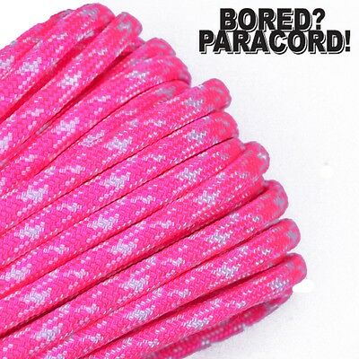 7 strand 550 Paracord Rope 100ft Neon Pink