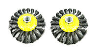 "2 X 4"" ROTARY TWIST KNOT WIRE REMOVE RUST REMOVER WHEEL BRUSH FOR ANGLE GRINDER"