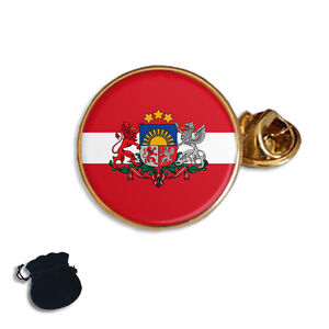 LATVIA LATVIJA LATVIAN FLAG /& COAT OF ARM ENAMELS  LAPEL PIN BADGE GIFT