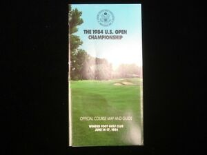 1984 US Open Golf Championship Official Course Map Guide EX eBay