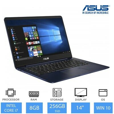 "ASUS ZenBook UX430UA 14"" Light Weight Laptop Intel Core i7-8550U, 8GB, 256GB SSD"