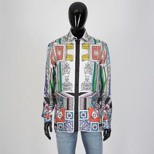 VERSACE-1395-Signature-Ancient-Mythology-Print-Shirt-In-Multi-Color-Silk