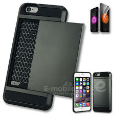 Card Pocket Rugged Shock Proof Slim Wallet Case Cover for Apple iPhone 5 6S Plus
