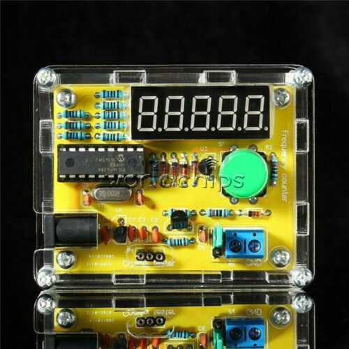 Frequency Counter Crystal Oscillator Tester meter 1Hz-50MHz 1MHz-1.1GHz DIY Kits