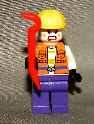 LEGO Jokers Goon Figure NEW Bat-Man Mini 76013 Red Crow Bar Minifig