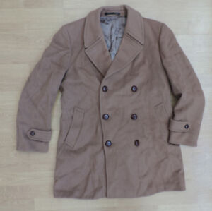 Men S Austin Reed Cashmere Blend Xl 44 Wool Coat Jacket Brown R4 7 Ebay
