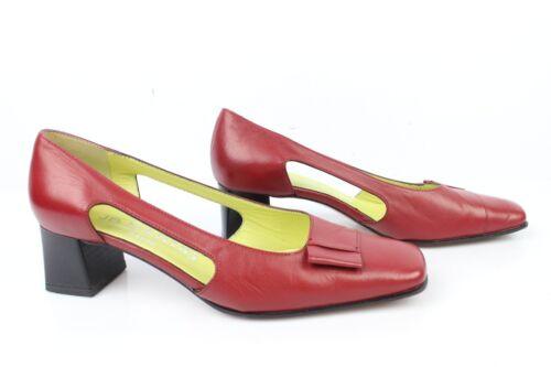 37 Muy Buen Estado Zapatos Vintage Martin T Piel Jb Paris En Rojo 8pPPz